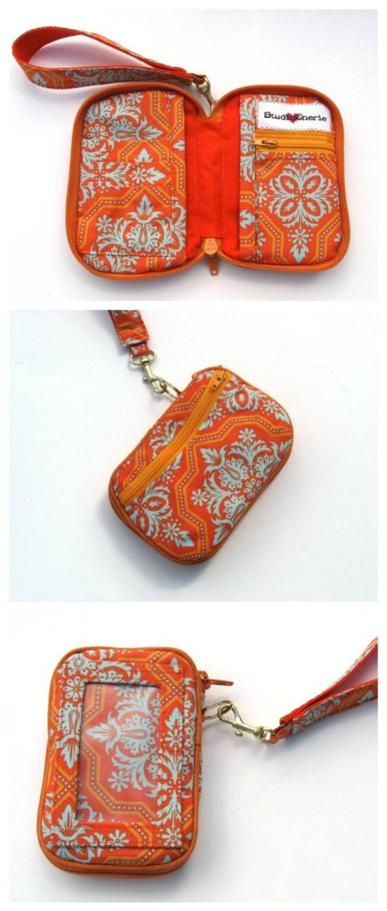 The Zip Around Wallet | Wallet sewing pattern, Wallet pattern and ...