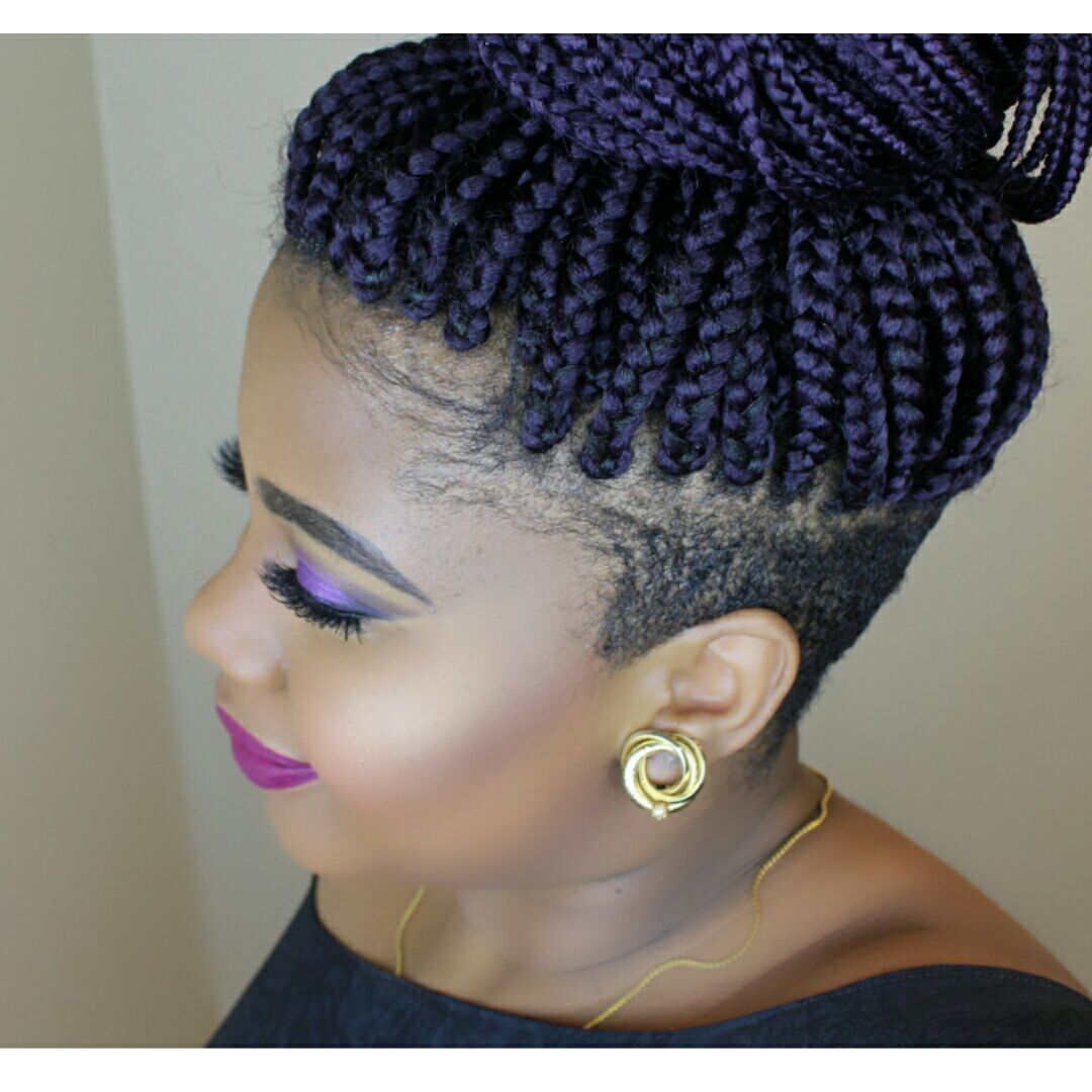 Braids with shaved sides natural hair cuts in pinterest