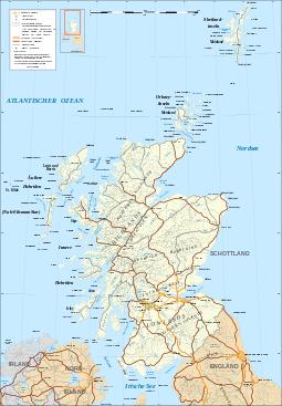 Scotland map-de.svg | Highlands Schottland in 2019