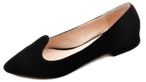 Honeystore Women's Pointed Toe Suede Flats Black 8 B(M) US Honeystore,http://www.amazon.com/dp/B00E4K7SI4/ref=cm_sw_r_pi_dp_nC-zsb0VXEX419S3