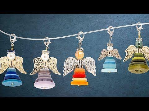 Photo of Ideen mit Herz – Perlenengel mit bunten Knöpfen – Schmuckanhänger basteln – Schutzengel – DIY