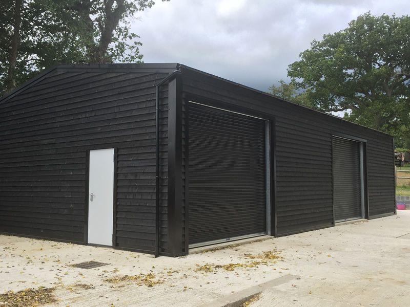 Steel Frame Garage : One of our steel framed building used as a rural workshop