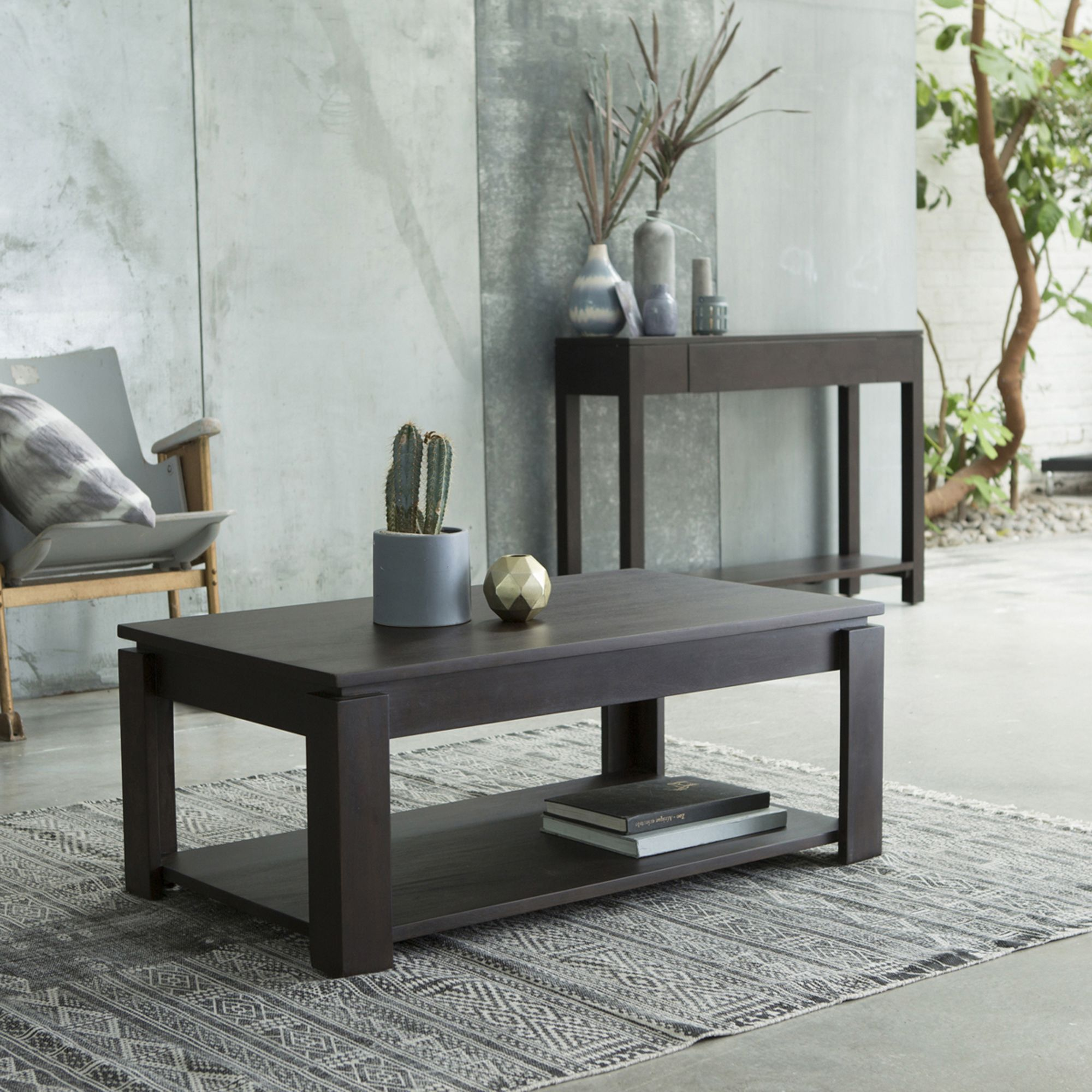With Its Lower Shelf The Atlas Coffee Table Gives You Plenty Of