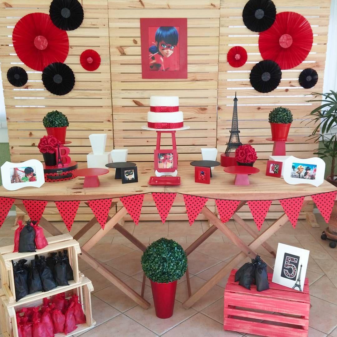 Pin de alexandra romero en ladybug birthday pinterest decoracion fiesta de ni a cumplea os Adornos cumpleanos nina