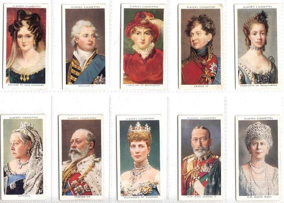 Kings And Queens Of England Complete Set Of 50x Original Etsy