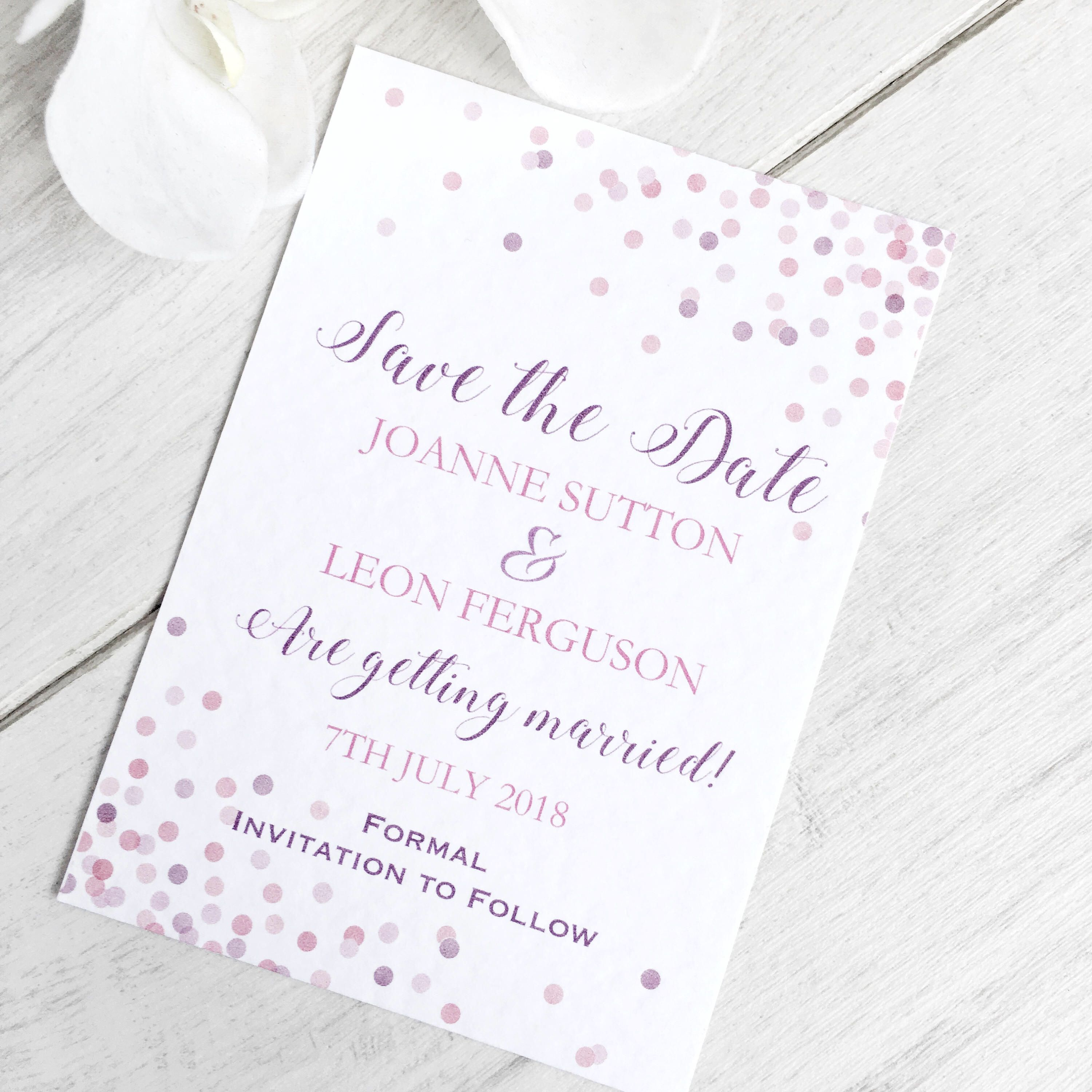 Wedding Save The Date Card, Save The Date Card, Save The Date ...