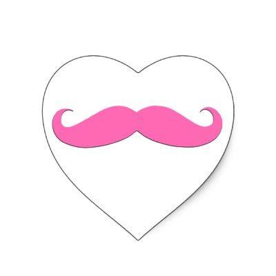 moustache + ♥ + Ⓟ Ⓘ Ⓝ Ⓚ