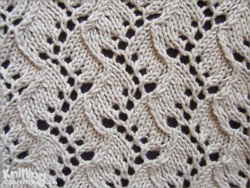 Lace Knitting Stitch | Traveling Vine pattern | Knitting Stitch ...