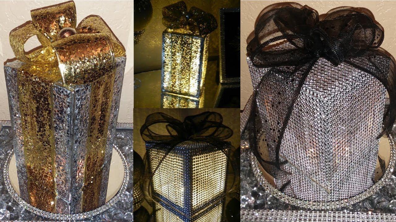 Dollar tree diy lighted christmas gift boxes diy elegant