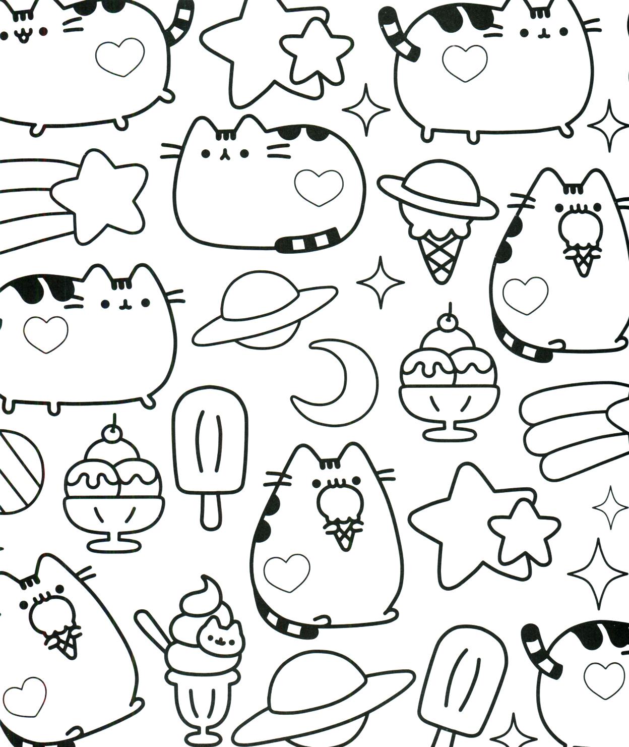 Pusheen coloring book pusheen pusheen the cat kid stuff