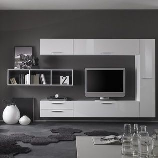 Modern wall unit tv media entertainment center club Design your own tv room