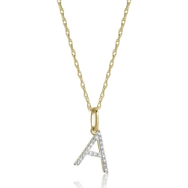 ce99052423ddac Large Pave Diamond Initial Charm Necklace in 2019 | Spoil Me ...