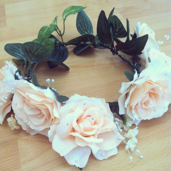 Lana Del Rey Inspired Silk Rose Floral Crown ($29) ❤ liked on Polyvore featuring accessories, hair accessories, jewelry, pictures, hair, rose flower crown, floral crown, flower garland, rose hair accessories and flower crown