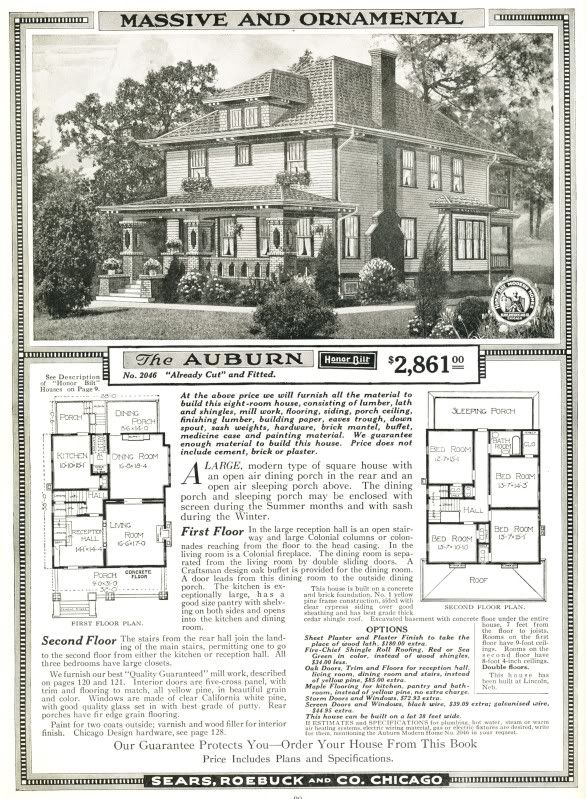 $2861.00 Sears Auburn House ~ Includes plans and materials ~ 4 ...