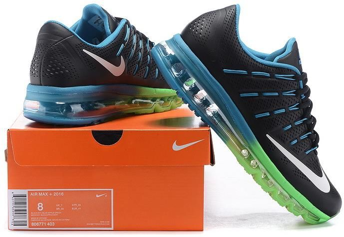 Air Max 2016 Leather Blue Green Black White1