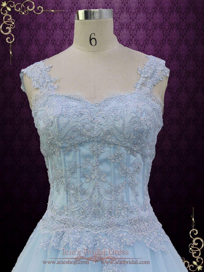 Blue Cinderella Style Ball Gown Wedding Dress   Seattle   Wedding ...
