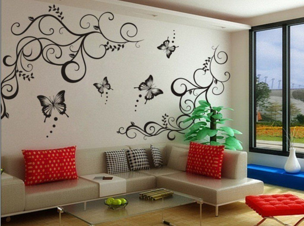 Awwhhh Diy Wall Painting Wall Painting Decor Simple Wall Paintings