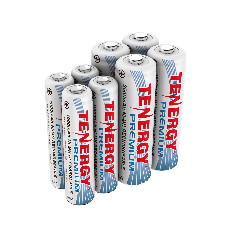 Combo 8pcs Tenergy Premium Nimh Rechargeable Batteries 4aa 4aaa Rechargeable Batteries Nimh Battery Sizes