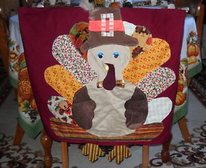 Surprising Handmade Linens Thanksgiving Turkey Gobble Patchwork Dining Gmtry Best Dining Table And Chair Ideas Images Gmtryco
