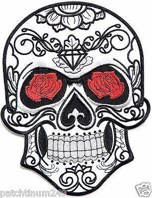 Diamond rose skull tattoo