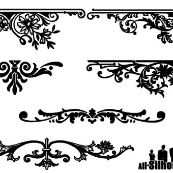 Free Floral Decorative Border Vector Designs Free Vector Art Vector Free Clip Art Borders