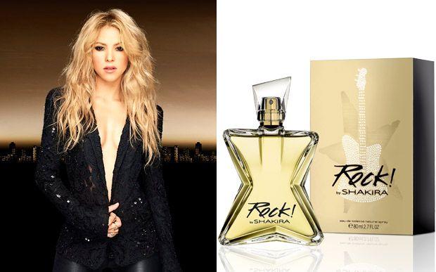"""Veja quem foram as celebs que assinaram perfumes recentemente Depois de assinar vários perfumes com uma pegada gipsy, em 2014 Shakira lançou Rock! by Shakira. A música, claro, tem tudo a ver com o produto - olha o frasco em forma de guitarra! """"A fragrância foi inspirada naquilo que é mais importante para mim. Quero capturar esta sensação intensa e indescritível, a empolgação que sempre antecipa o momento em que subo no palco."""