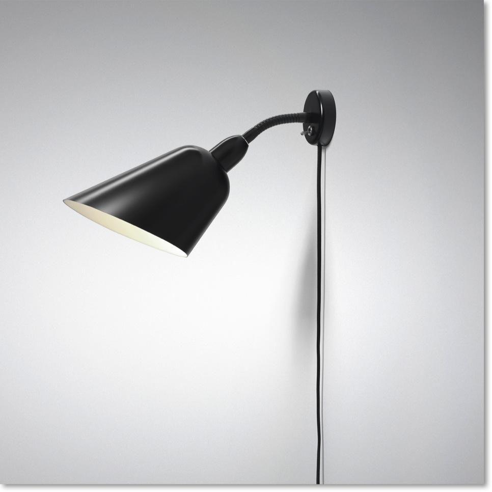 Sort Bellevue Aj4 Vaeglampe Design Arne Jacobsen Tradition