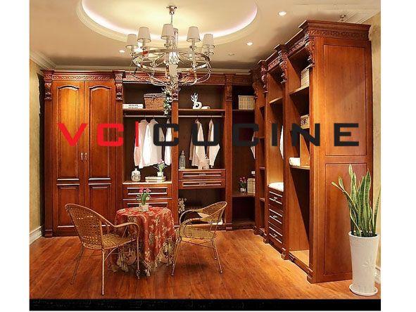 L Shape Solid Wood Wardrobe