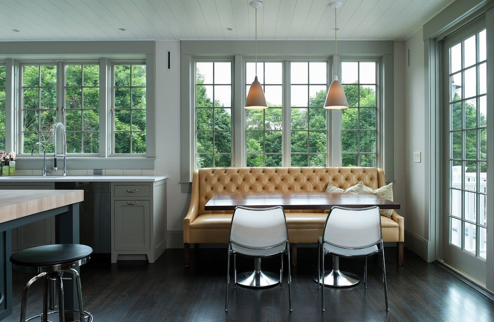 Captivating Banquette Seating For Sale Kitchen Contemporary With Banquette Seating  Breakfast Bar Dark Wood Floors