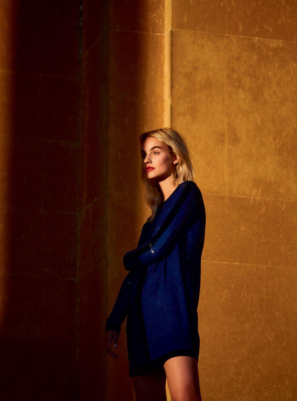 Maartje Verhoef Pays Homage To Yves Klein Lensed By Josh Skinner