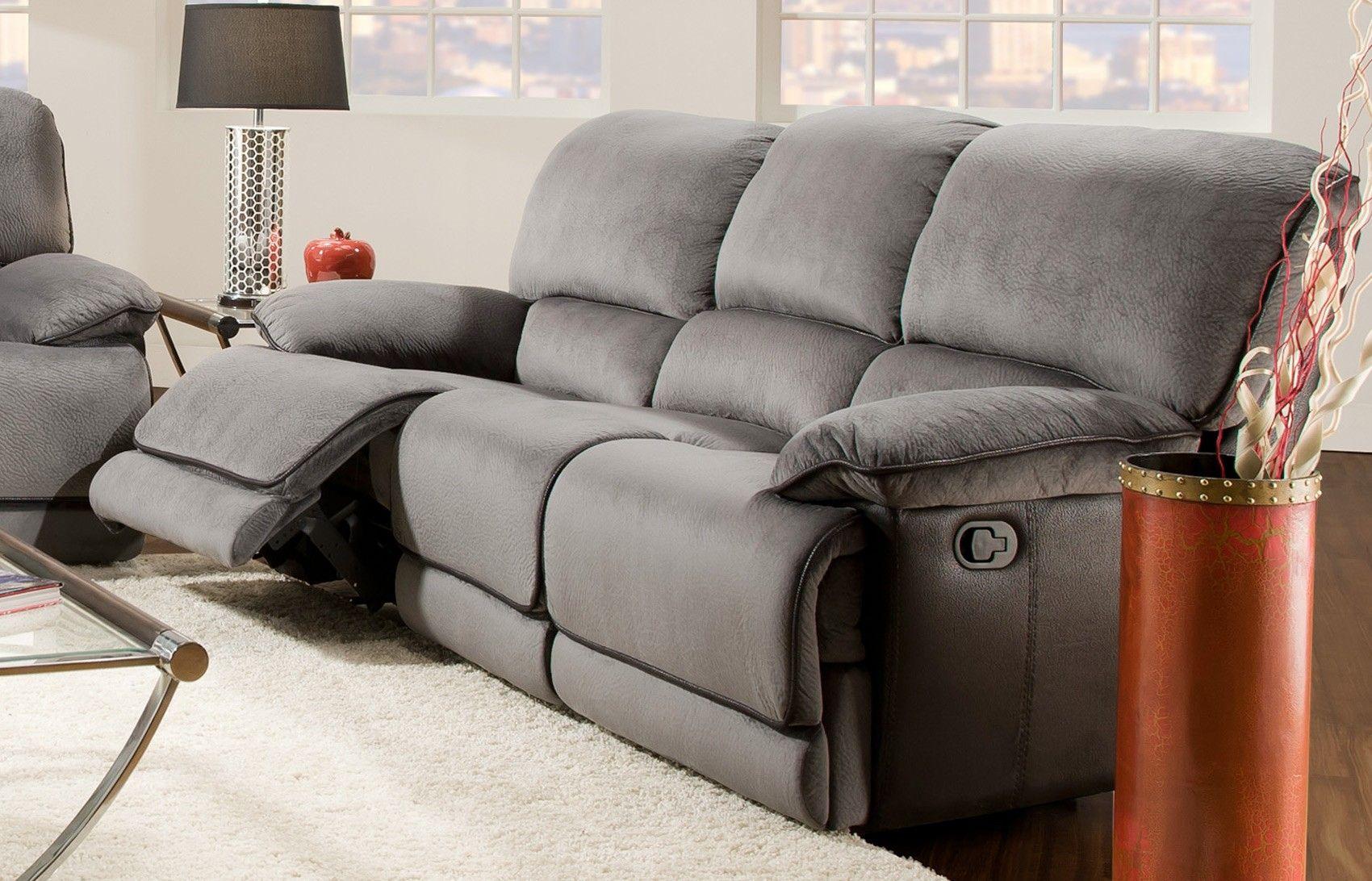 Rhino Reclining Sofa Grey 77930 Corinthian