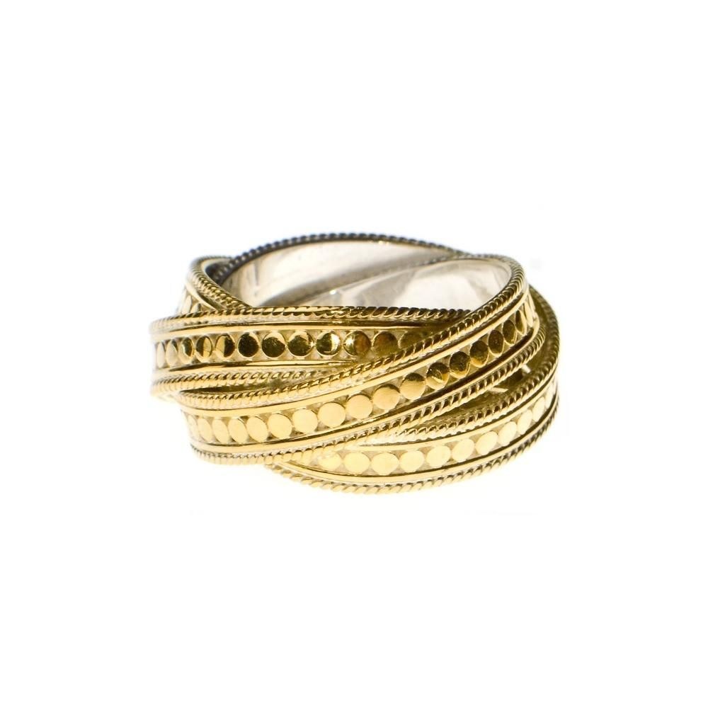 c1e910dc7 Anna Beck Timor Gold Plated Twisted Ring   Trend: Gold Rush ...