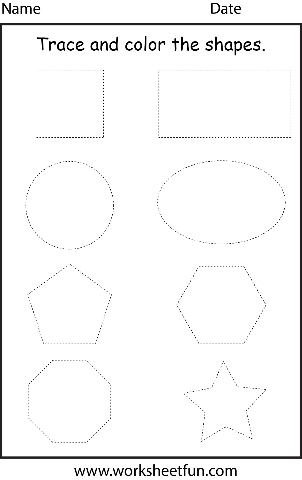 trace the shapes worksheet preschool preschool pinterest shapes worksheets worksheets and. Black Bedroom Furniture Sets. Home Design Ideas