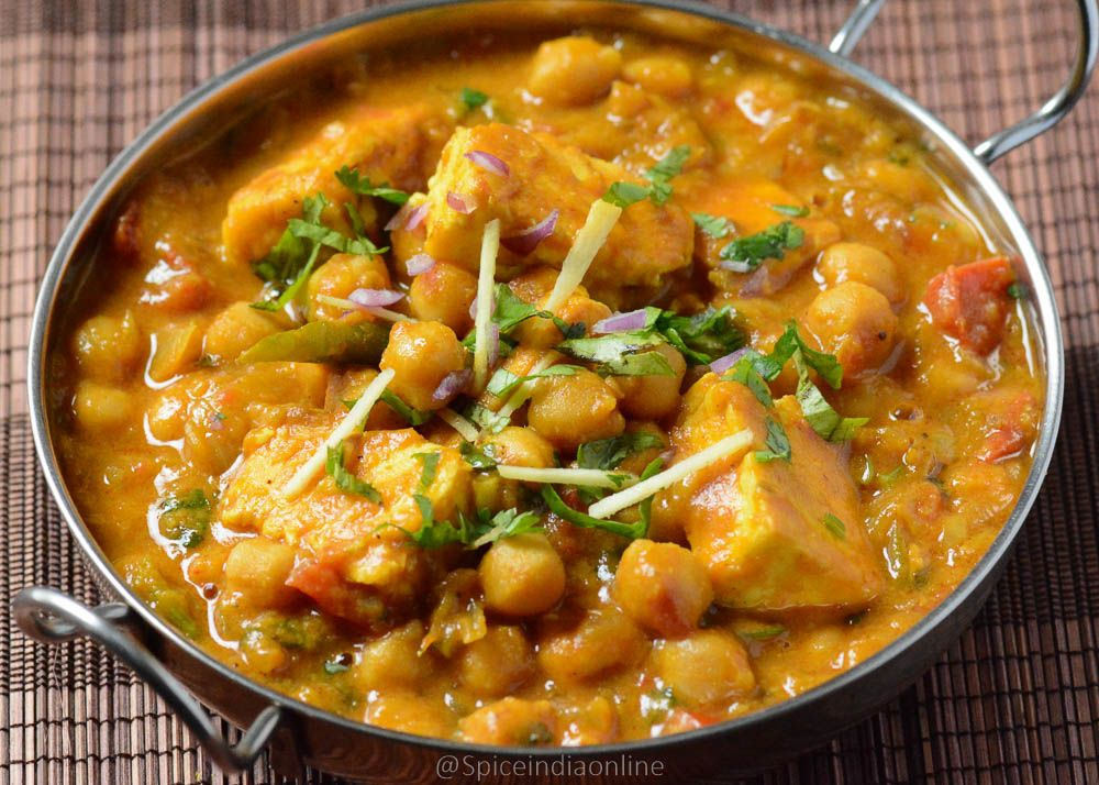 Paneer chana masala 3 indian food pinterest chana masala paneer chana masala recipe chana paneer recipe side dish for chapati spiceindiaonline forumfinder Gallery