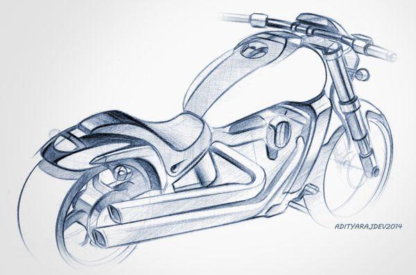 Motorcycle Scooter Sketches Renders On Behance Bike Sketch