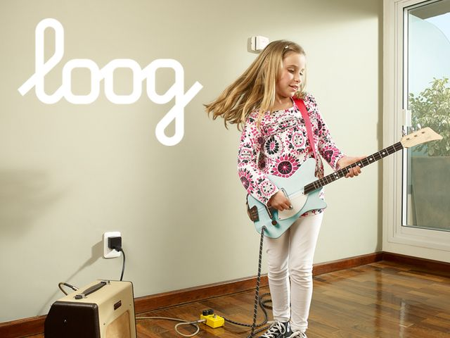 the electric loog guitar by rafael atijas kickstarter products i love kids electric guitar. Black Bedroom Furniture Sets. Home Design Ideas