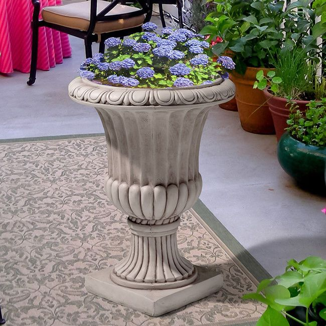 Antique White Italian 26 Inch Urn Planter Garden Planter Flower Pot Planters