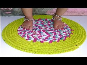 058f9a33e DIY - Door mat from Old T-shirt and Saree