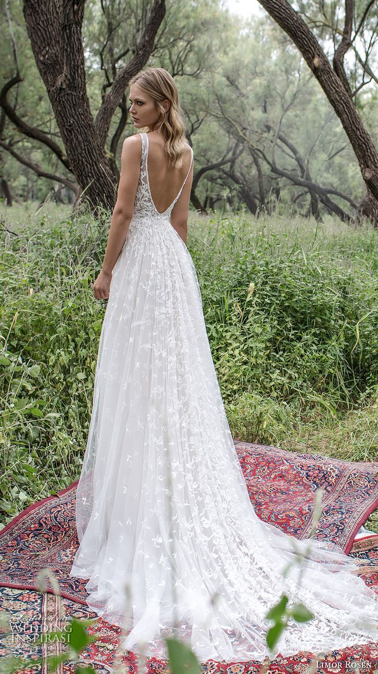 f392e96975c LIMOR ROSEN 2017 bridal sleeveless v neck heavily embellished bodice  angelic romantic a line wedding dress low back chapel train (aria) bv