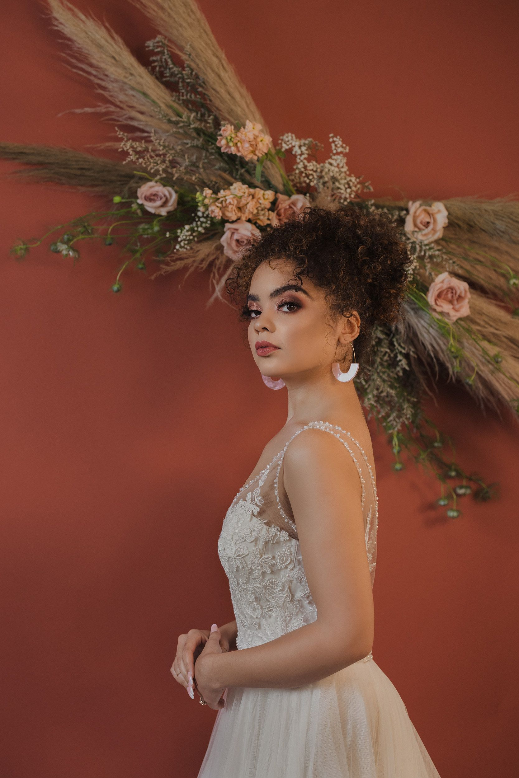 Bridal hair and makeup by Cat Owens. Shot in Tulsa