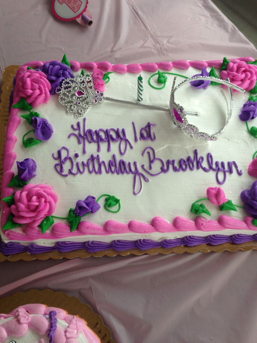 Her birthday cake, Princess 1st Birthday. From Giant Supermarket, it was great!