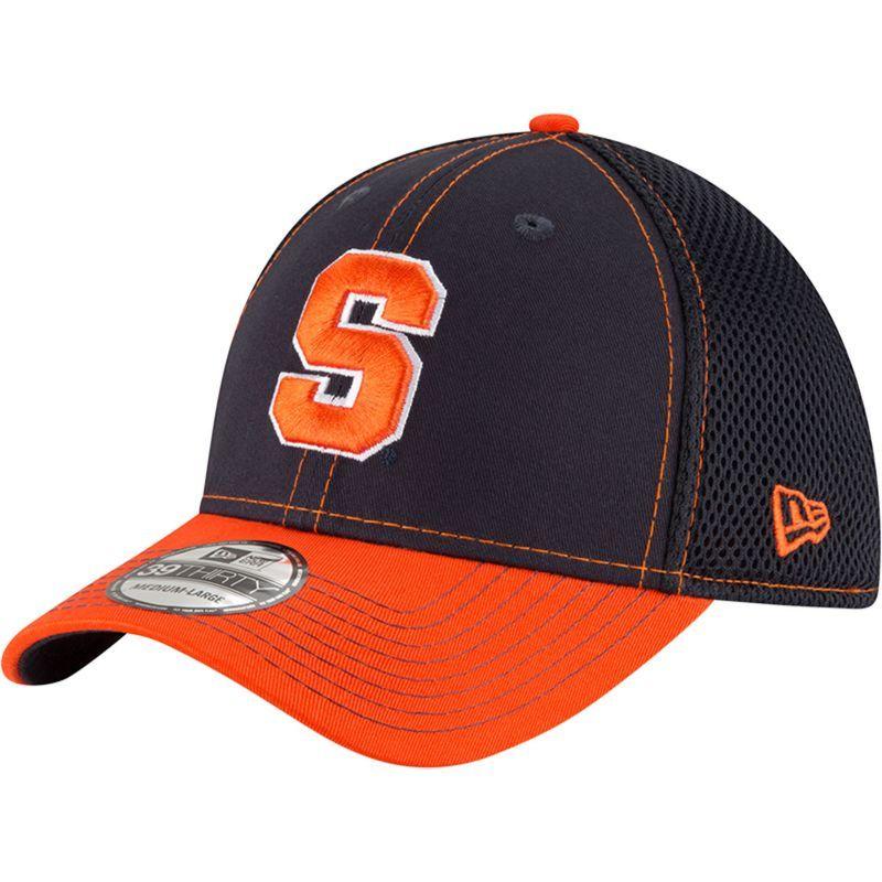 New Era Men's Syracuse Orange Blue/Orange Team Front Neo 39Thirty Hat, Size: Medium/Large