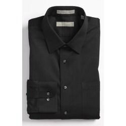 Smartcare Trim Fit Dress Shirt Black 16.5 - 36/37