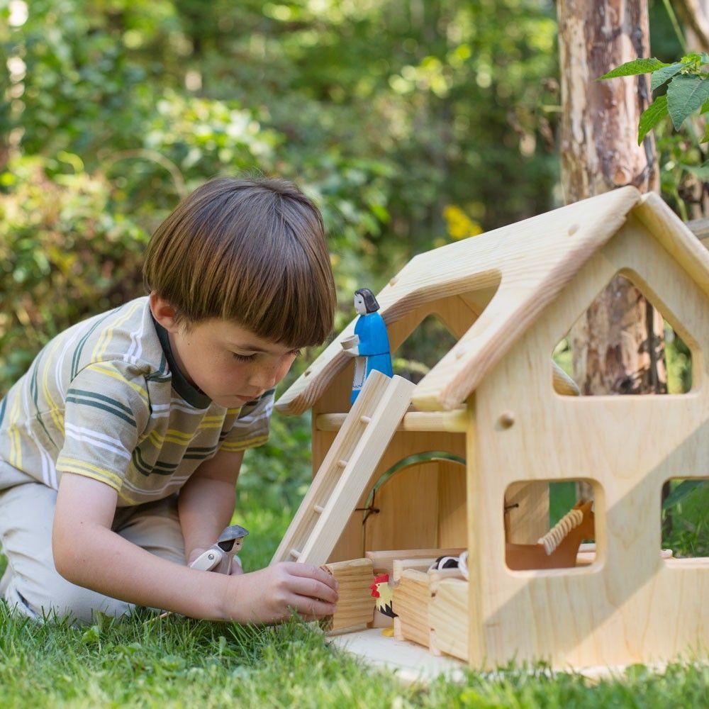 Engelberger Farmyard Set Wooden Figures In Farm Animals Nova