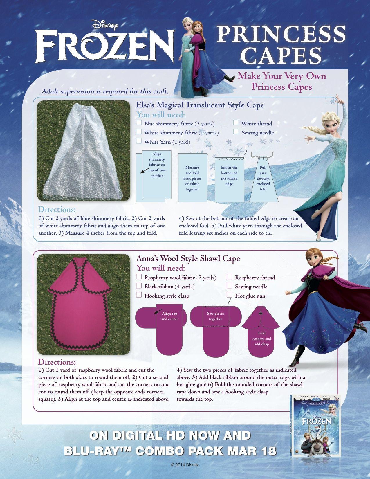 kost m frozen cape karneval pinterest frozen cape kost m und n hen. Black Bedroom Furniture Sets. Home Design Ideas
