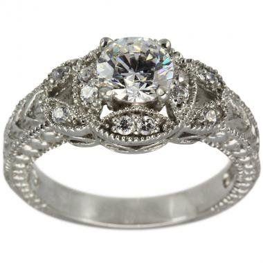 Antique Diamond Engagement Ring With CERTIFIED F Color I1 0.48 ct Center - 7 Da'Carli,http://www.amazon.com/dp/B007JNWUVI/ref=cm_sw_r_pi_dp_fucLsb0PE37Q3HB1