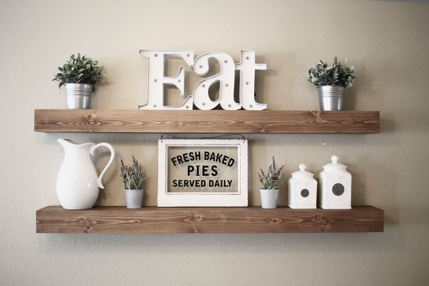 hanging kitchen shelves steel island pin by j boom on decorating ideas home decor rustic