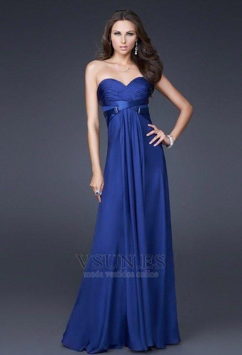 Vestidos de fiesta azul oscuro