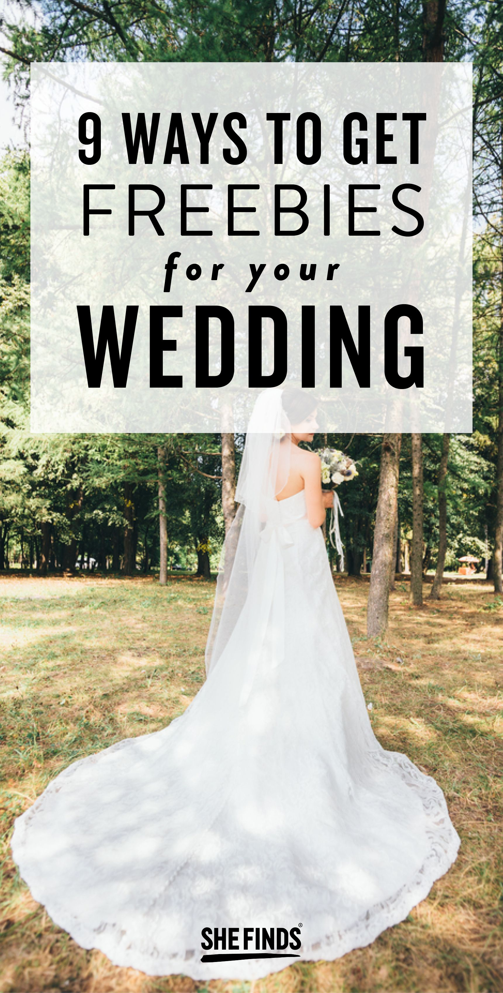 9 Ways To Get Freebies For Your Wedding TipsAdvice Pinterest