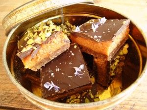 Choco karamelkoek met zeezout